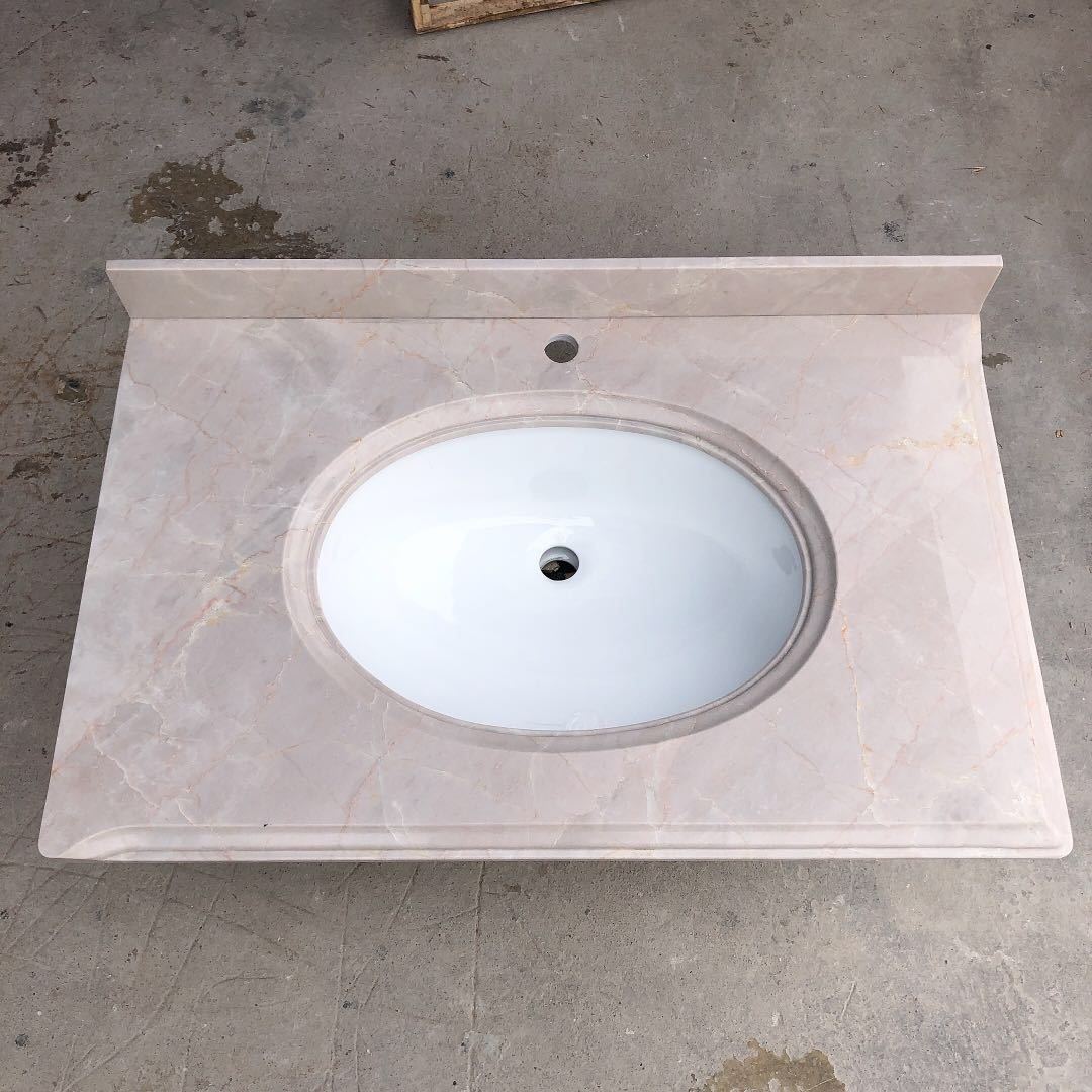 Bathroom vanity top by marble Angel Beige