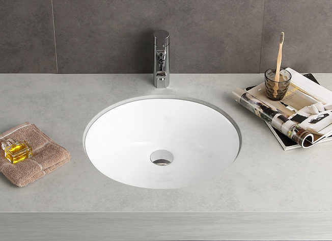 Oval Bathroom Porcelain Undermount Sink