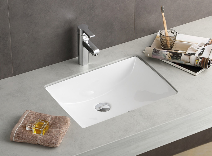 Rectangular Bathroom Porcelain Undermount Sink