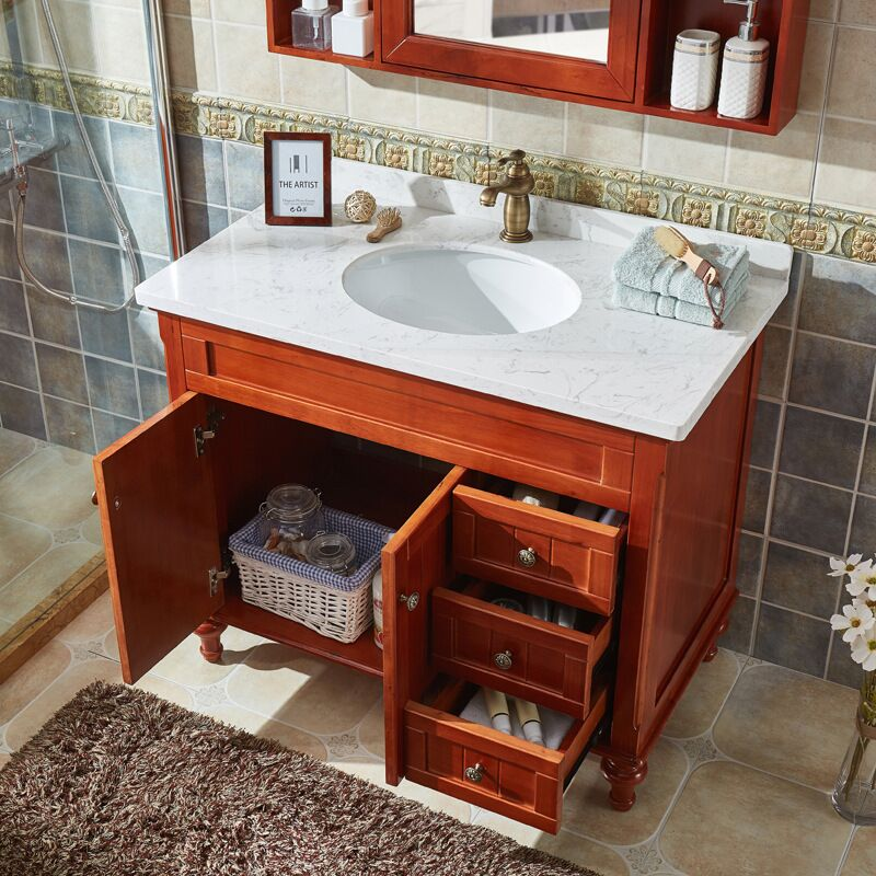 Amerian Style Bathroom Vanities with Artificial Marble Counter top