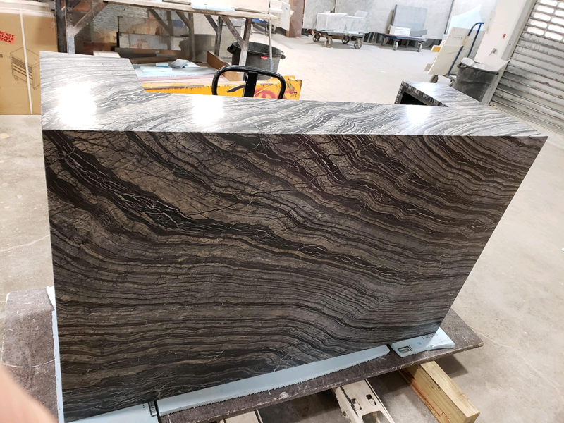 Reception Desk by Marble Kenya Black