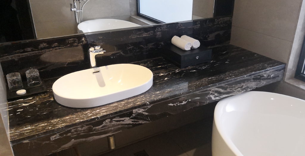 Bathroom lavatory countertop by marble Silver Dragon