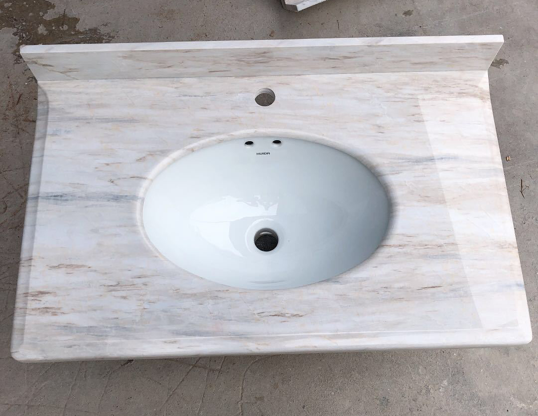 Bathroom vanity top by marble EuroAsia Wood