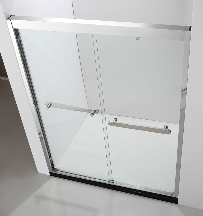 Glass Shower Enclosure by Stainless Steel Frame and Hardware