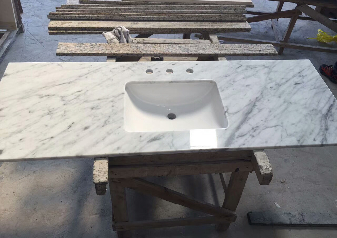 Marble Bianco Carrara Bathroom Vanity top