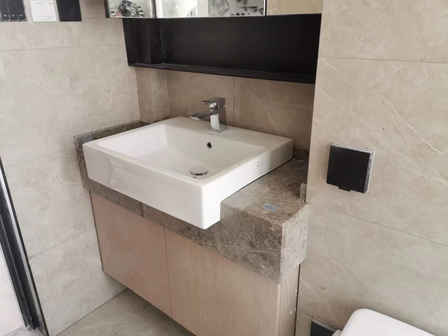 Marble Lavatory Countertop and Window Sill