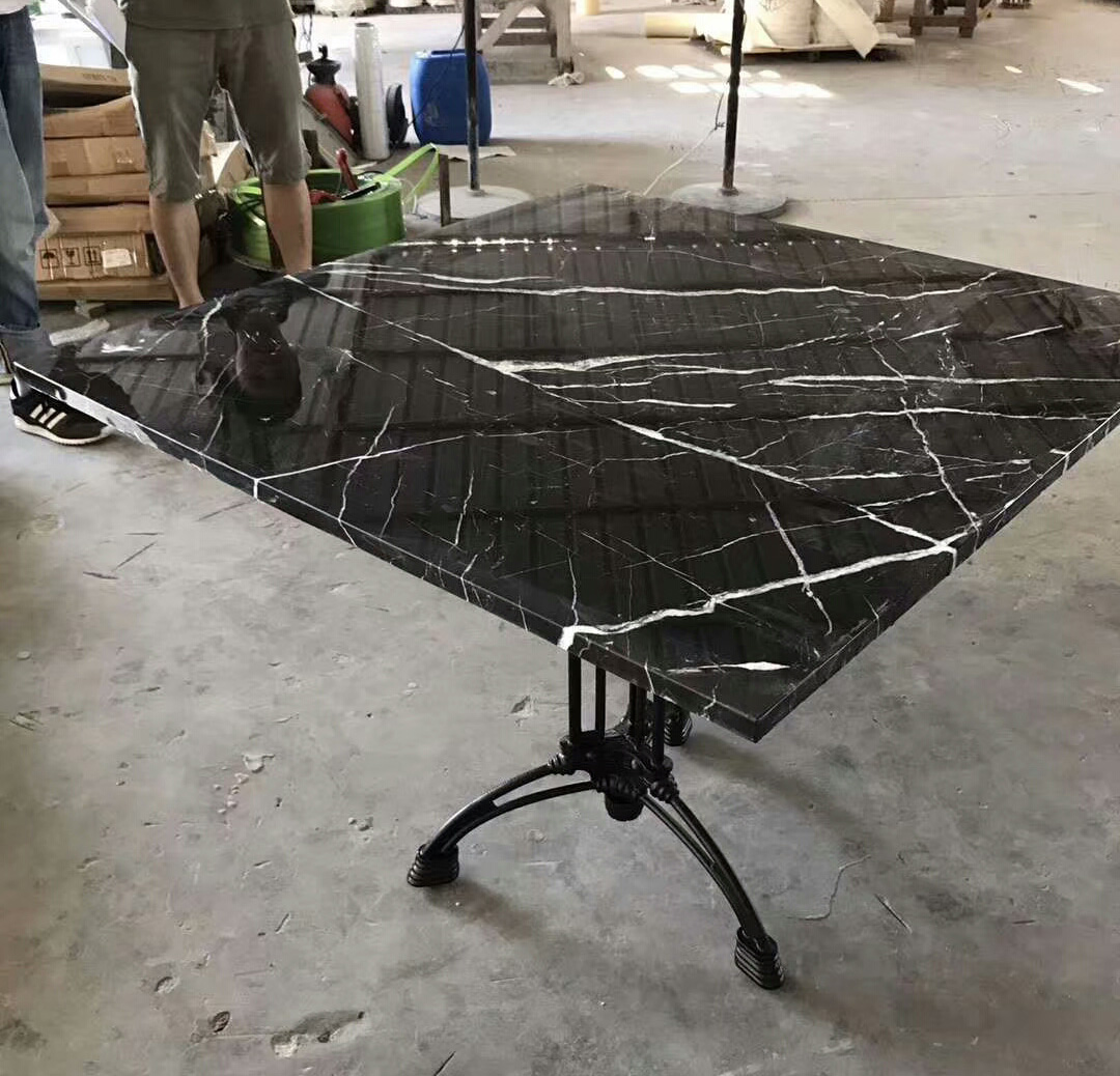 Marble Nero Marquina Table top