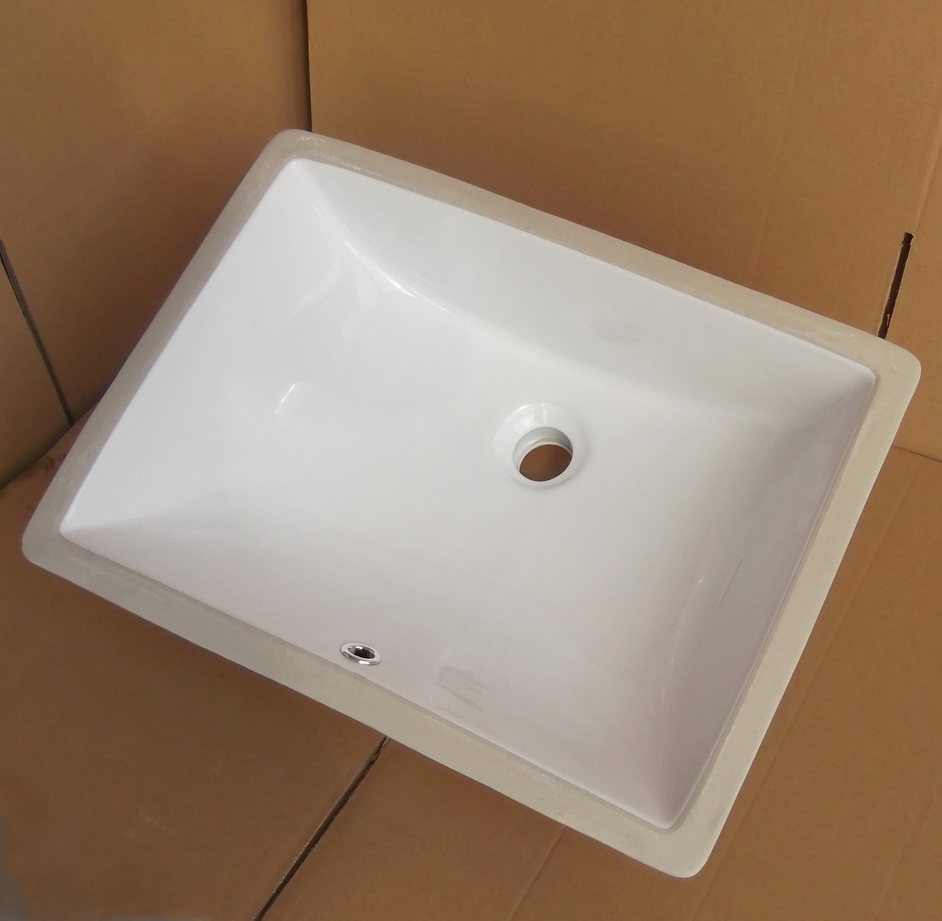 Rectangular  Undermount Porcelain Bathroom Sink