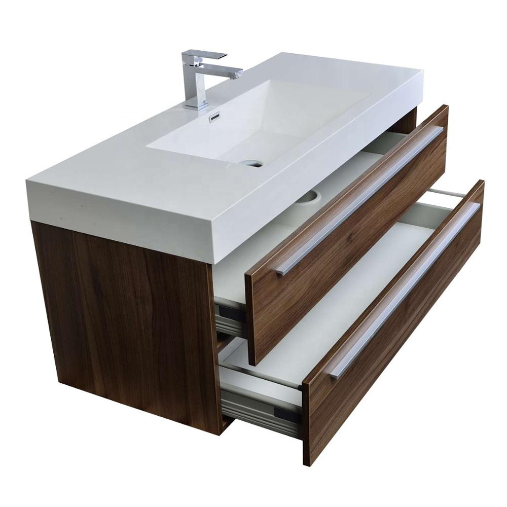 Wall Mounted Bathroom Vanities with Porcelain Basin