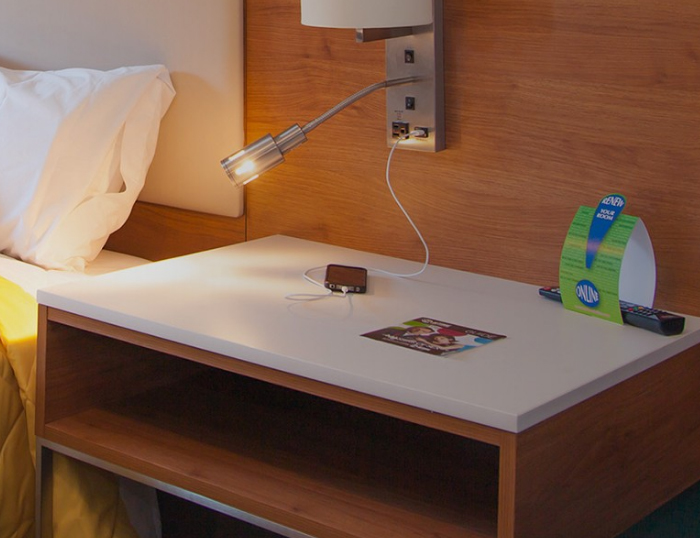 White Quartz top for Nightstand Furniture
