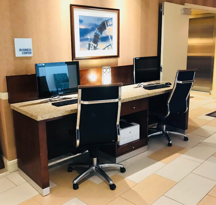 Working Desk with Printer Cabinet and Granite top